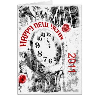 Nouvelles années d'horloge de partie de carte de