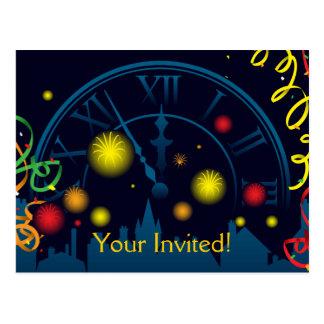 Nouvelles années d'invitation de partie carte postale