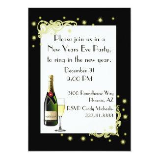 Nouvelles années d'invitation de partie carton d'invitation  12,7 cm x 17,78 cm
