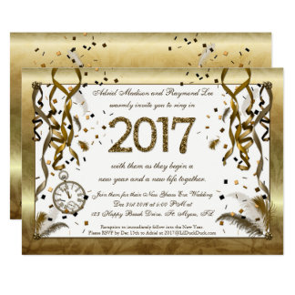 Nouvelles années d'or d'Ève d'invitations de Carton D'invitation 12,7 Cm X 17,78 Cm