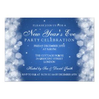 Nouvelles années élégantes d'Ève de partie de bleu Carton D'invitation 12,7 Cm X 17,78 Cm