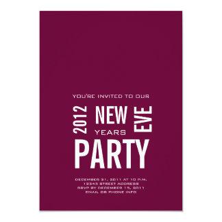 Nouvelles années modernes d'invitations de partie carton d'invitation  12,7 cm x 17,78 cm