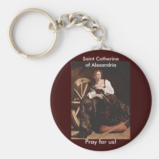 Nov 26 St. Catherine of Alexandria Basic Round Button Keychain