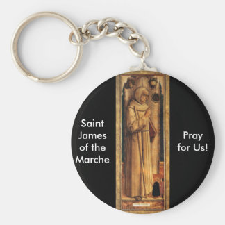 Nov 28 St. James of the Marche Basic Round Button Keychain