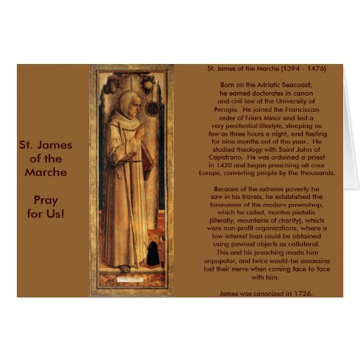 Nov 28 St. James of the Marche Greeting Cards