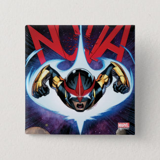 Nova Flying At Top Speed 2 Inch Square Button