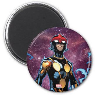 Nova Over Fallen Nova Corps Helmets 2 Inch Round Magnet