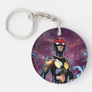 Nova Over Fallen Nova Corps Helmets Double-Sided Round Acrylic Keychain