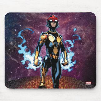Nova Over Fallen Nova Corps Helmets Mouse Pad