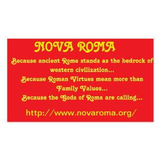 """Nova Roma Business Cards"" Business Card"
