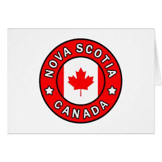 Nova Scotia Canada Card