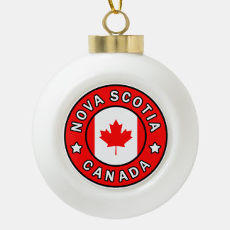 Nova Scotia Canada Ceramic Ball Christmas Ornament