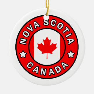Nova Scotia Canada Ceramic Ornament