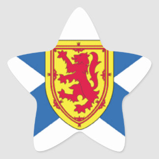 Nova Scotia (Canada) Flag Star Sticker