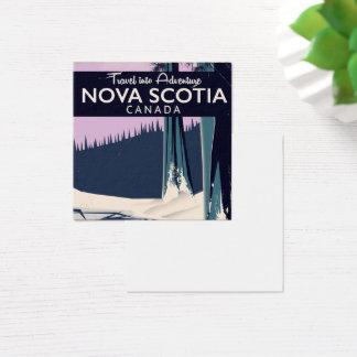 Nova Scotia, Canada holiday travel poster. Square Business Card