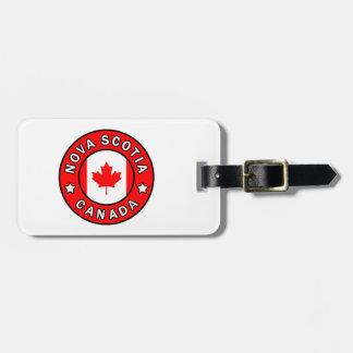 Nova Scotia Canada Luggage Tag