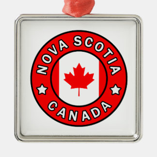 Nova Scotia Canada Metal Ornament