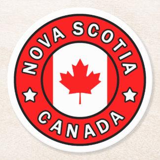 Nova Scotia Canada Round Paper Coaster