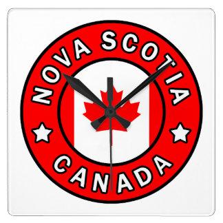 Nova Scotia Canada Square Wall Clock