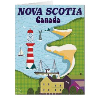 Nova Scotia Canada Vintage Travel poster Card