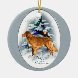 Nova Scotia Duck Tolling Retriever Christmas Gifts Ceramic Ornament
