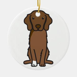 Nova Scotia Duck Tolling Retriever Dog Cartoon Ceramic Ornament