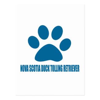 NOVA SCOTIA DUCK TOLLING RETRIEVER DOG DESIGNS POSTCARD