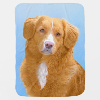Nova Scotia Duck Tolling Retriever Dog Painting Baby Blanket