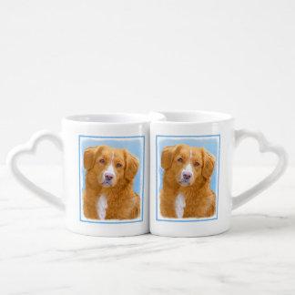 Nova Scotia Duck Tolling Retriever Dog Painting Coffee Mug Set