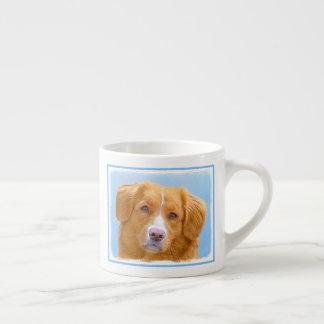 Nova Scotia Duck Tolling Retriever Dog Painting Espresso Cup
