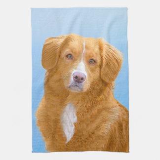 Nova Scotia Duck Tolling Retriever Dog Painting Kitchen Towel