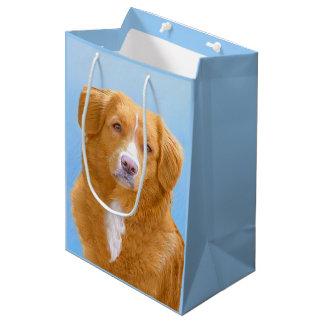Nova Scotia Duck Tolling Retriever Dog Painting Medium Gift Bag