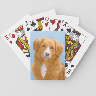 Nova Scotia Duck Tolling Retriever Dog Painting Playing Cards