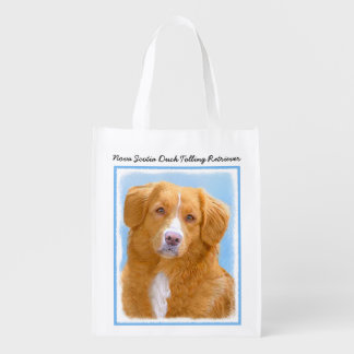 Nova Scotia Duck Tolling Retriever Dog Painting Reusable Grocery Bag