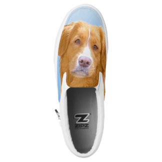 Nova Scotia Duck Tolling Retriever Dog Painting Slip-On Sneakers