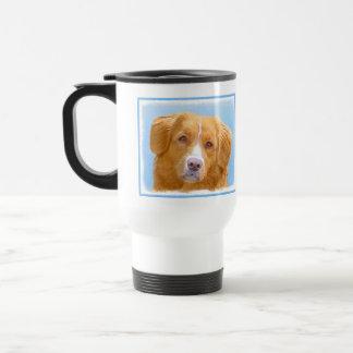 Nova Scotia Duck Tolling Retriever Dog Painting Travel Mug