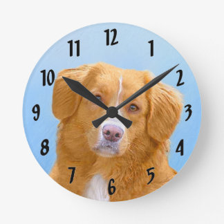 Nova Scotia Duck Tolling Retriever Round Clock