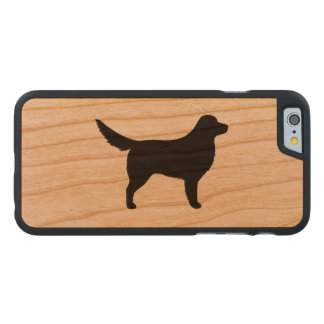 Nova Scotia Duck Tolling Retriever Silhouette Carved Cherry iPhone 6 Case