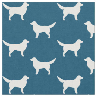 Nova Scotia Duck Tolling Retriever Silhouettes Fabric