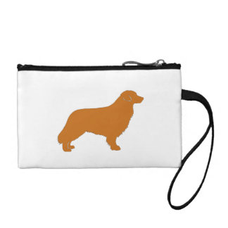 nova scotia duck tolling retriever silo color coin purse