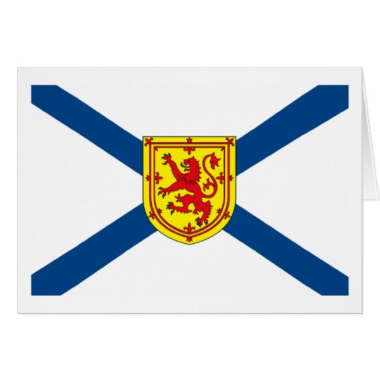 Nova Scotia Flag Greeting Card