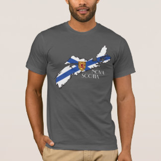 Nova Scotia Flag-Map T-Shirt