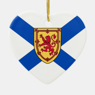 Nova Scotia(Historic 3 By 4 Ratio) flag Ceramic Ornament
