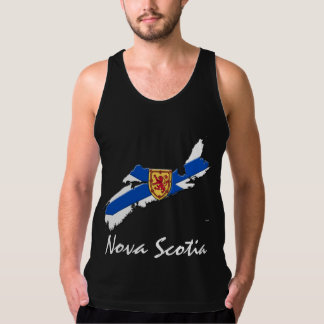 Nova Scotia Map shirt blue