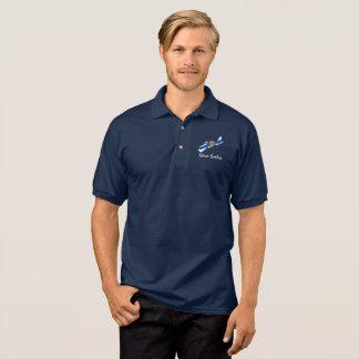 Nova Scotia Map shirt blue