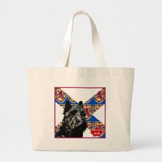 Nova Scotia Scottish Terrier Canvas Bags