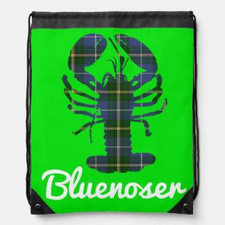 Nova Scotia Tartan Bluenoser drawstring Bag