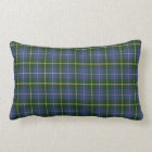 Nova Scotia Tartan Custom  green Plaid Lumbar Pillow