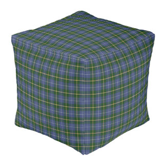 Nova Scotia Tartan Custom green Plaid pouf