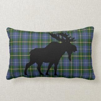 Nova Scotia Tartan Custom Moose green Plaid Lumbar Pillow